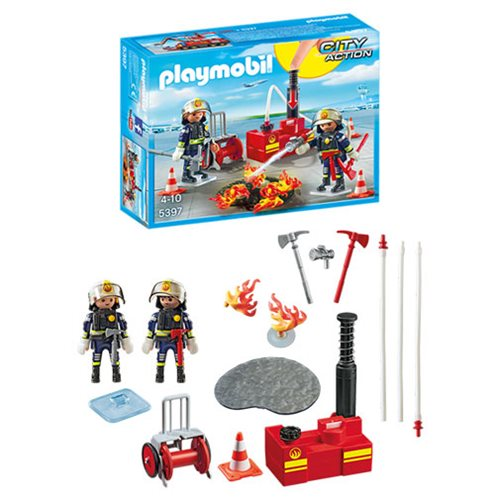 Playmobil 5397 Airport Firefighting Operation with Water Pump