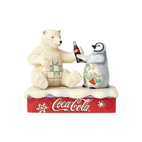 Coca-Cola Polar Bear and Penguin Friendship Goes Better With Coke Statue by Jim Shore