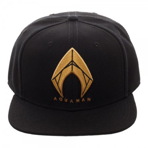 Aquaman Icon Embroidered Snapback Hat