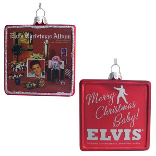 Elvis Presley Christmas Album 3 1/4-Inch Ornament