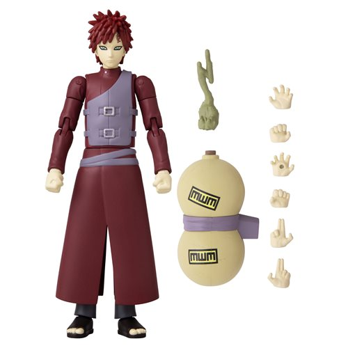 Anime Heroes Naruto: Shippuden Gaara  6 1/2-Inch Action Figure