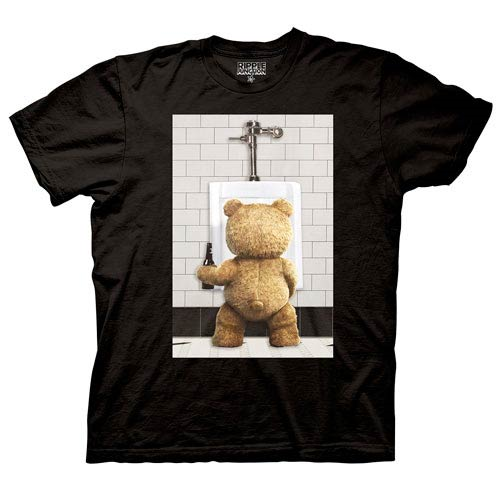 Ted in the Urinal Black T-Shirt