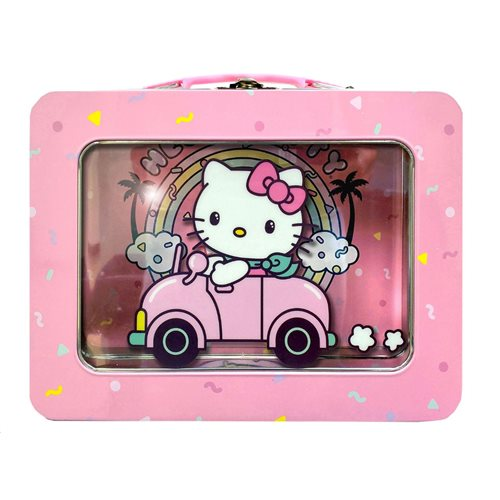 Hello Kitty XL Tin Lunch Box with Window