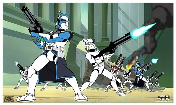 SW Clone Wars: ARC Troopers Giclee Print