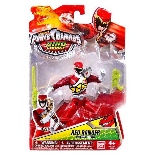"Power Rangers Dino Charge - 5"" Red Ranger Figure, Not Mint"