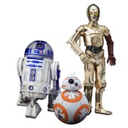 Star Wars:The Force Awakens C-3PO R2-D2 and BB-8 Artfx+ 1:10 Scale Statue Set