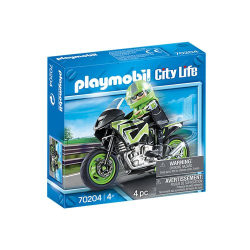 Playmobil 70204 Vehicle World Motorcycle with Rider