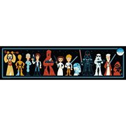 Star Wars Lineup by Dave Perillo Silk Screen Art Print