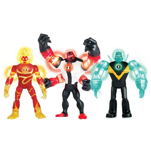 Ben 10 Deluxe Power Up Action Figures