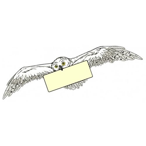 Harry Potter Hedwig Soaring Soft Touch PVC Magnet
