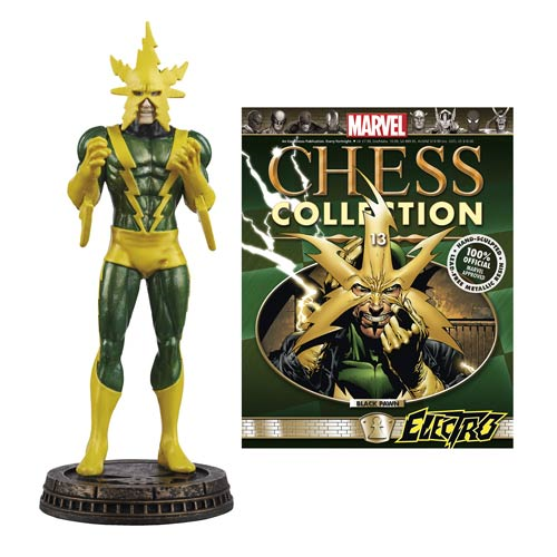 Marvel Electro Black Pawn Chess Piece with Magazine