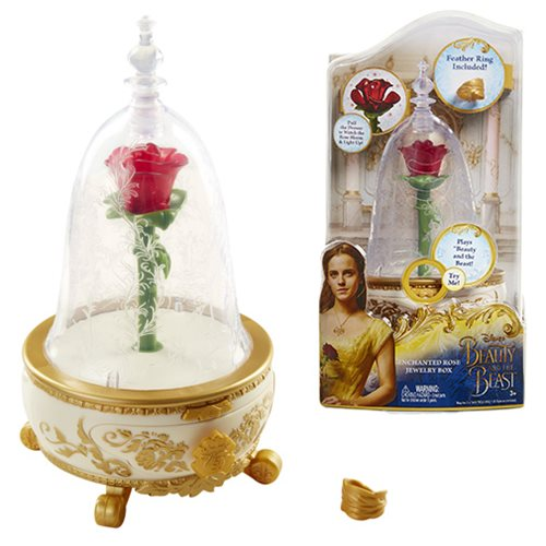Beauty and the Beast Live Action Enchanted Rose Jewelry Box