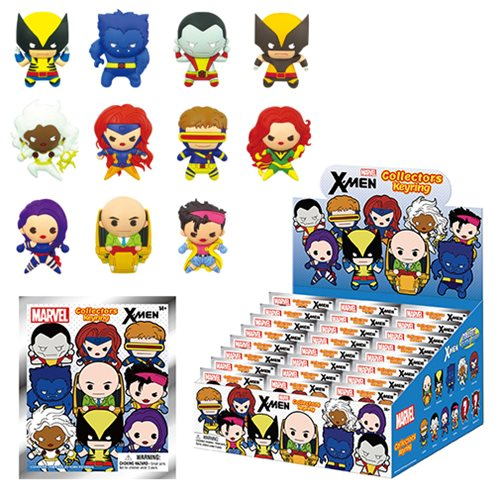 X-Men 3-D Figural Key Chain Random 6-Pack