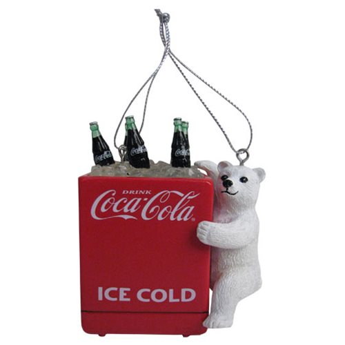 Coca-Cola Bear Cub with Cooler 4 1/2-Inch Ornament