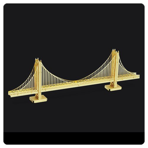 Golden Gate Bridge Gold Version Metal Earth Model Kit