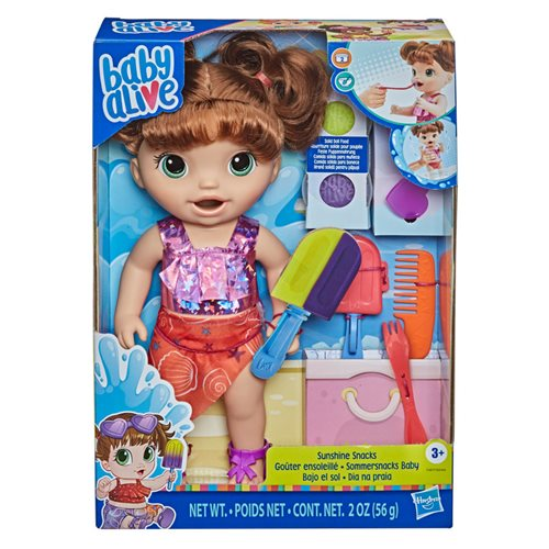Baby Alive Sunshine Snacks Doll (Brown Hair)
