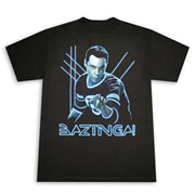 Big Bang Theory Sheldon Glow Bazinga T-Shirt