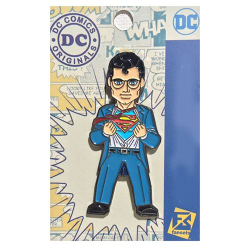 Superman Secret Identity Pin