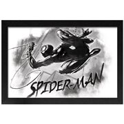 Spider-Man Black-and-White Framed Art Print