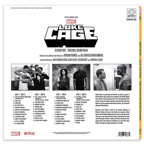 Marvel's Luke Cage Season Two Original Soundtrack 2XLP
