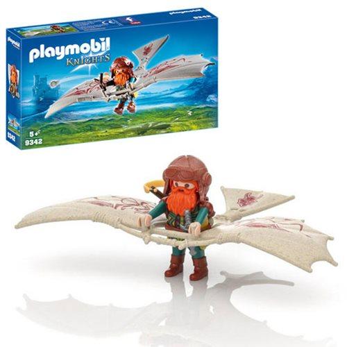 Playmobil 9342 Knights Dwarf Flyer Toy Playset