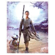 Star Wars Rey Vintage Photo Canvas Print