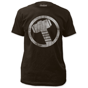 The Mighty Thor Distressed Icon Black T-Shirt