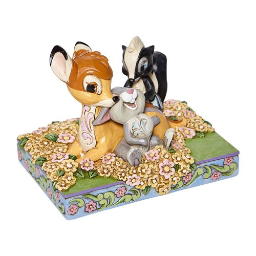 Disney Traditions Bambi and Friends in Flowers Childhood Friends by Jim Shore Statue