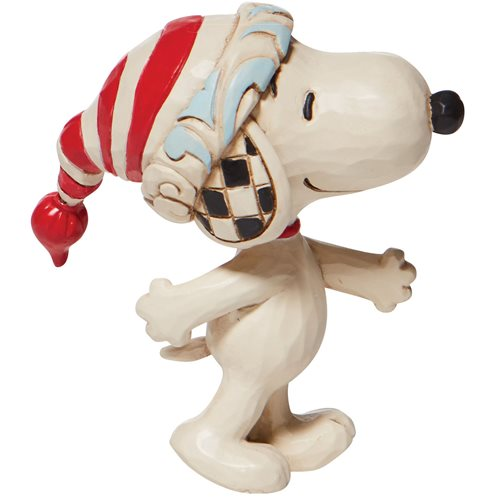 Peanuts Snoopy with Red-and-White Cap by Jim Shore Mini Statue