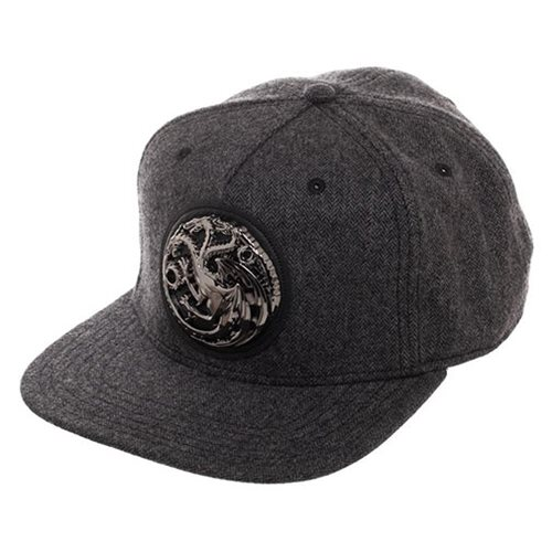 Game of Thrones Targaryen Grey Snapback Hat