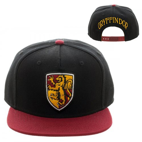 Harry Potter Gryffindor Crest Black Snapback Hat