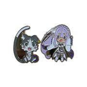 Re:Zero Emilia and Puck Pins
