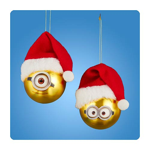 Despicable Me Minion Gold Ball Glass Ornament Set