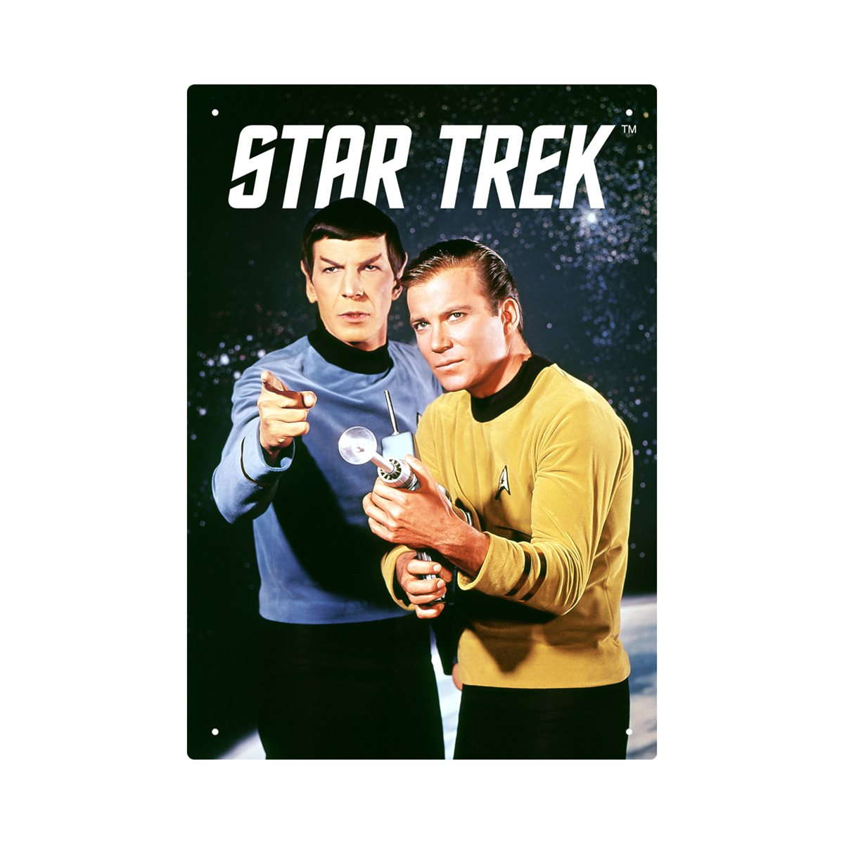 Kirk Star Trek Metal Sign Kirk vs