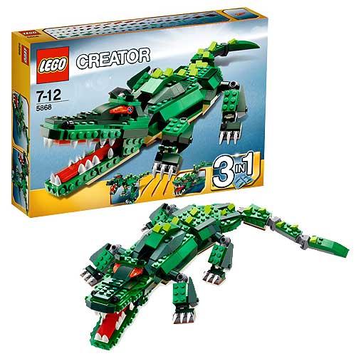Lego 5868 Ferocious Creatures Crocodile Entertainment Earth