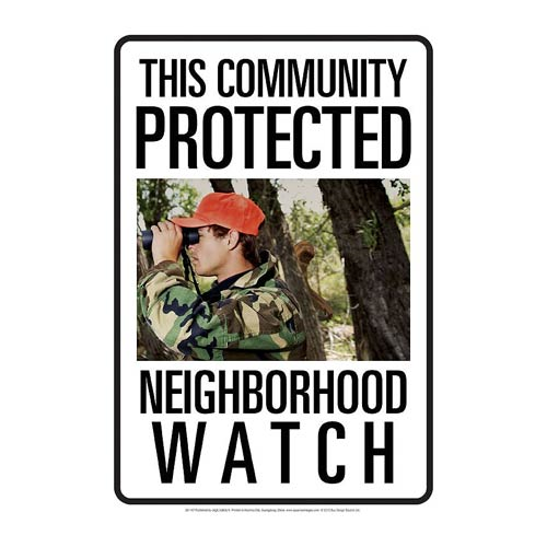 Neighborhood Watch Bigfoot Tin Sign