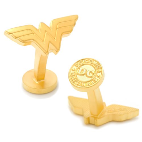 Wonder Woman Logo Gold Cufflinks