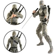 Articulated Icons Gray Basic Ninja 6-Inch Action Figure