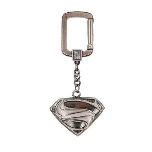 Superman Logo Pewter Key Chain