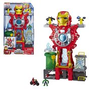 Marvel Super Hero Adventures Iron Man Headquarters Playset