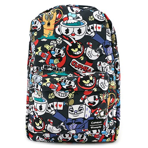 Cuphead Character Print Nylon Backpack