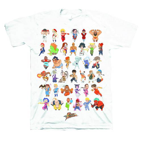 Street Fighter Super Group White T-Shirt - Previews Exclusive