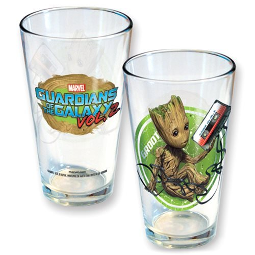 Guardians of the Galaxy Vol. 2 Groot Tape Pint Glass