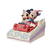 Disney Traditions Mickey and Minnie Sledding Sweethearts by Jim Shore Statue