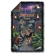 Jurassic Park Welcome To The Park Woven Tapestry Blanket