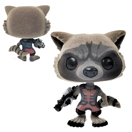 Guardians of the Galaxy Ravager Rocket Raccoon Flocked Version Pop! Vinyl Figure - San Diego Comic-Con 2015 Exclusive
