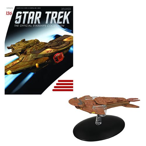 Star Trek Starships Keldon Class Vehicle with Collector Magazine #136