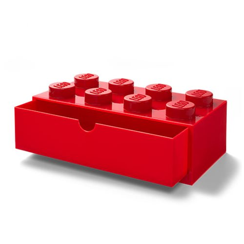 LEGO Red Desk Drawer 8 Storage Box, Not Mint