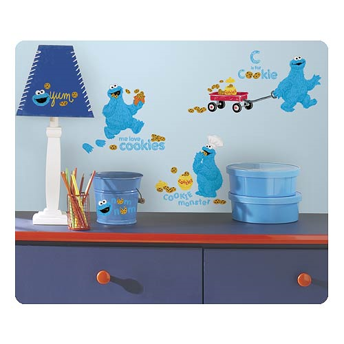 Sesame Street Me Love Cookie Monster Peel and Stick Wall Decals