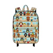 Star Wars Phantom Menace Chibi Character Print Backpack